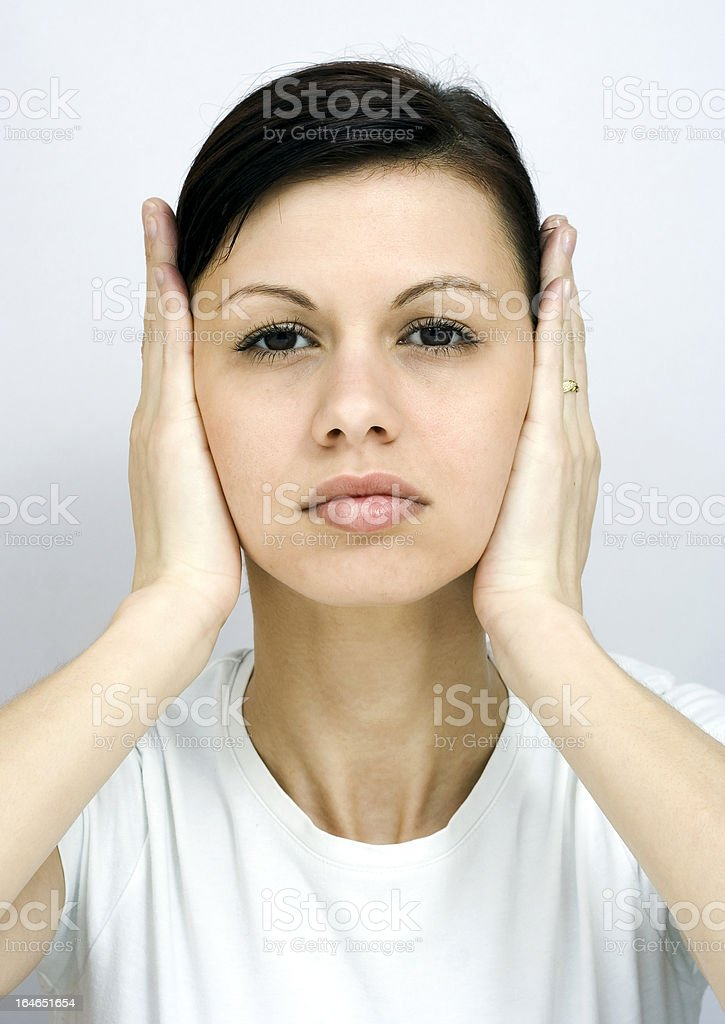 Shut your ears! royalty-free stock photo