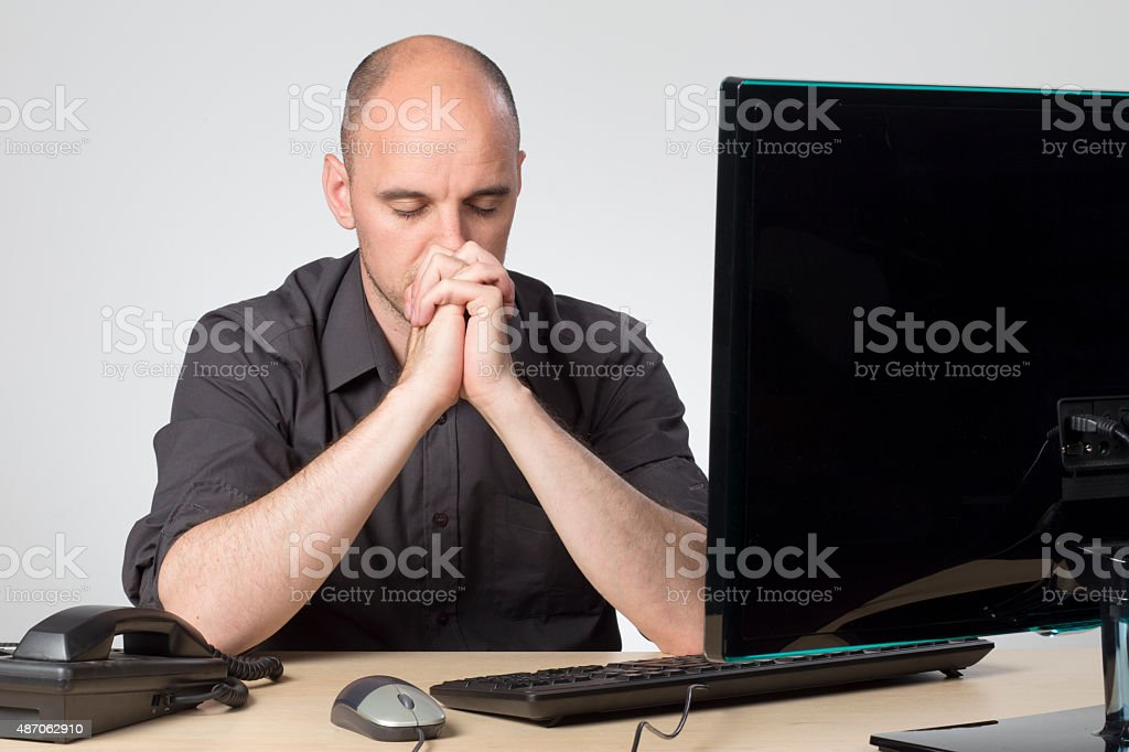 shut yours eyes, count to ten stock photo