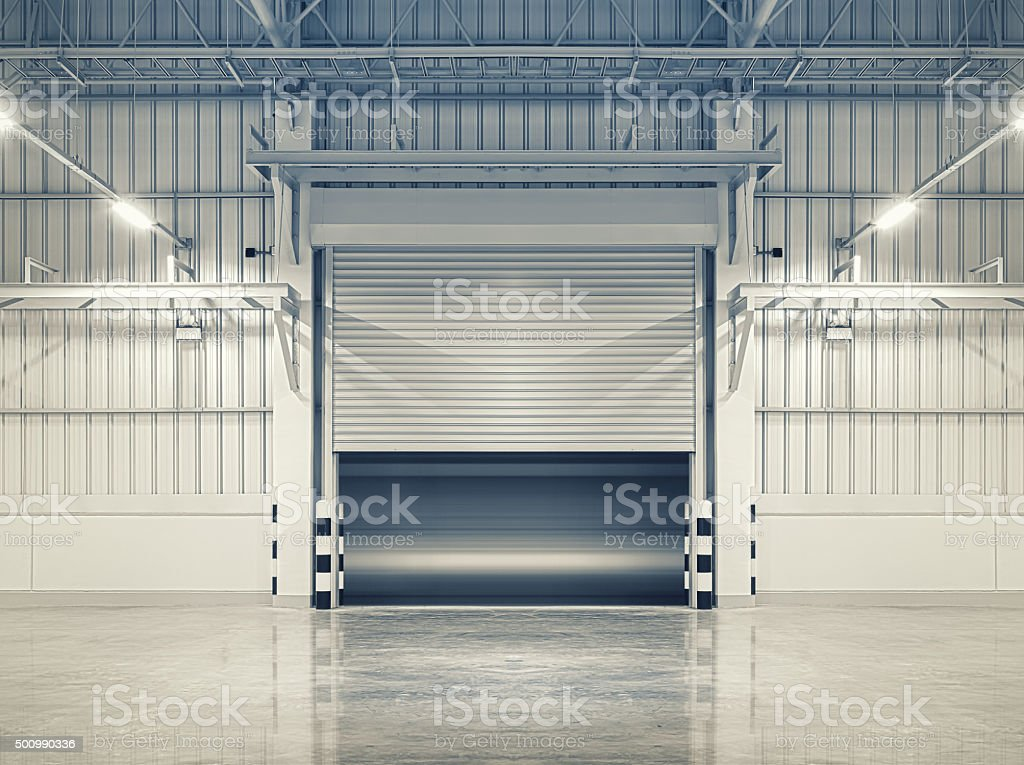 Shutter door stock photo