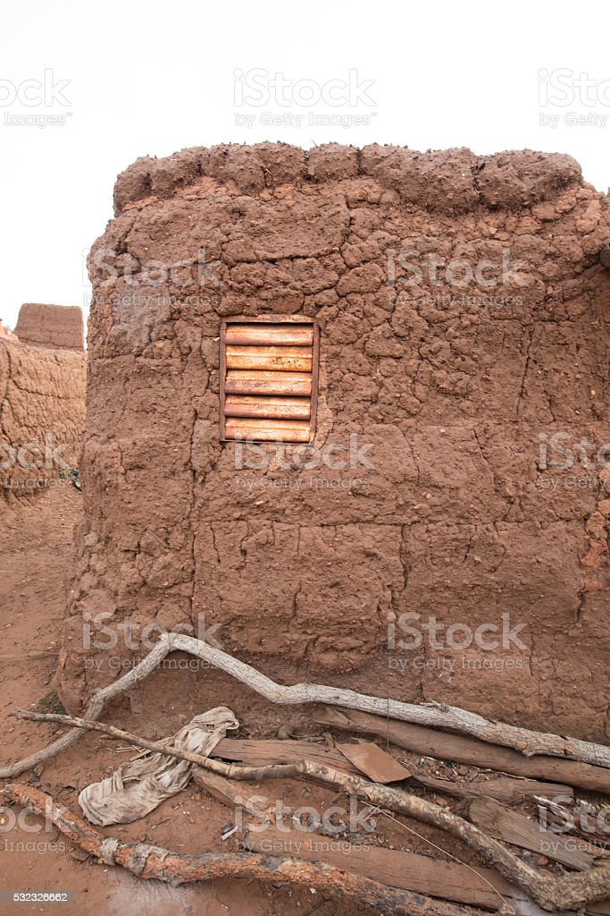 Shutter in village stock photo