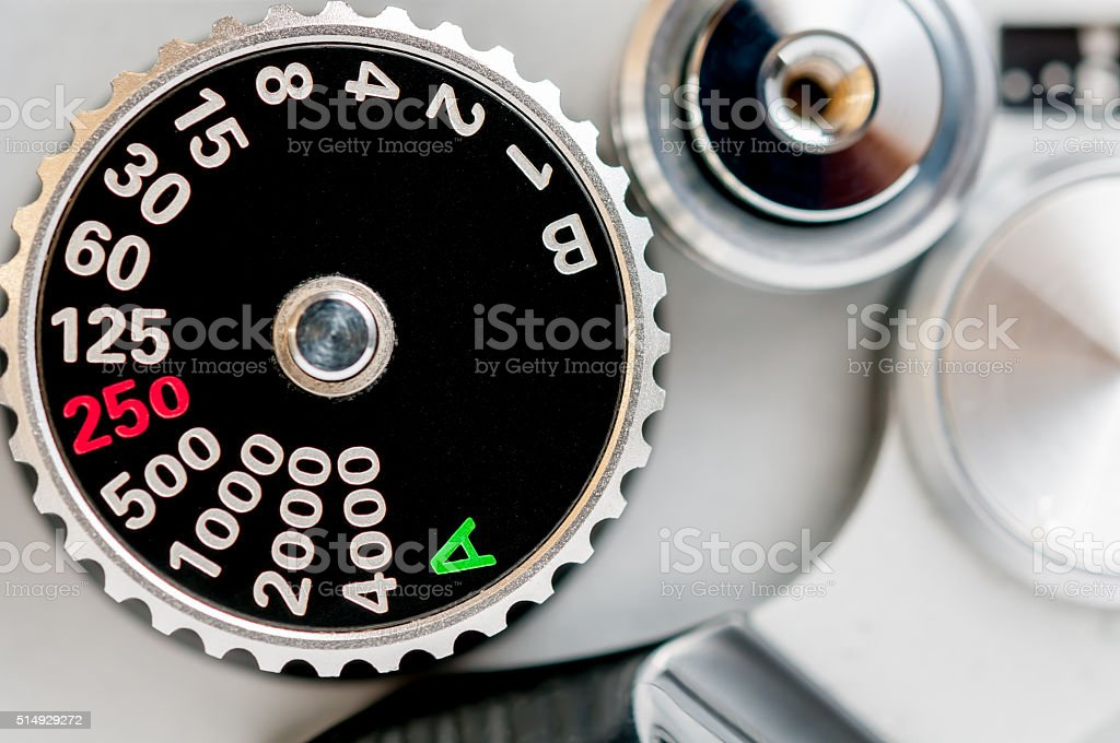 shutter speed dial stock photo