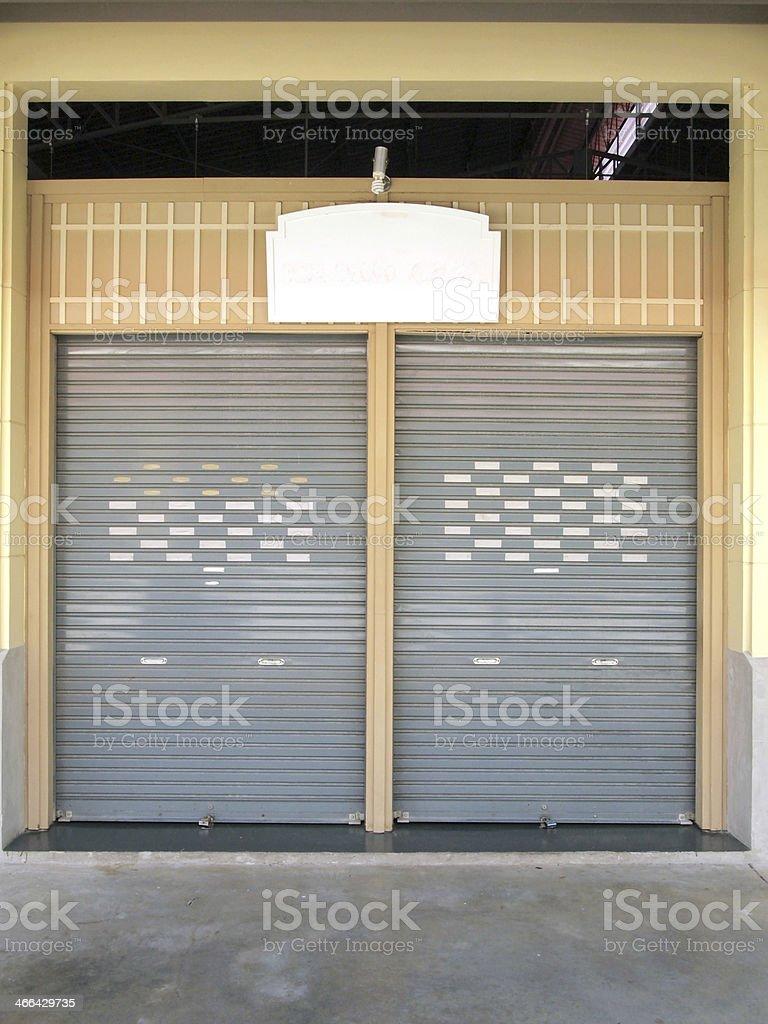 shutter steel door - home security stock photo