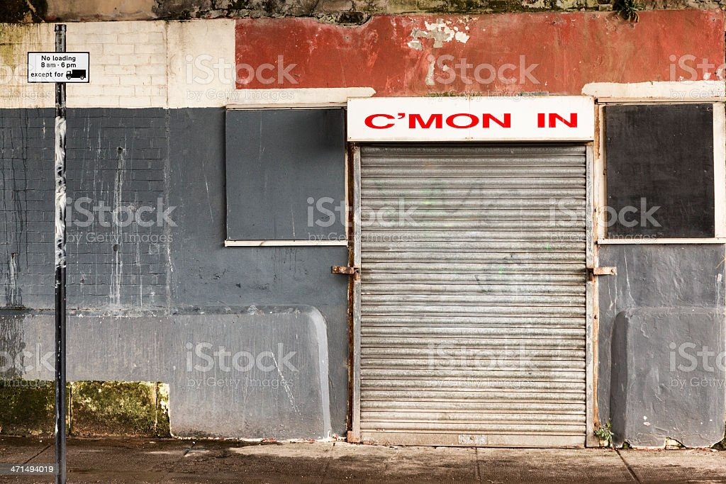 Shuttered Cafe royalty-free stock photo