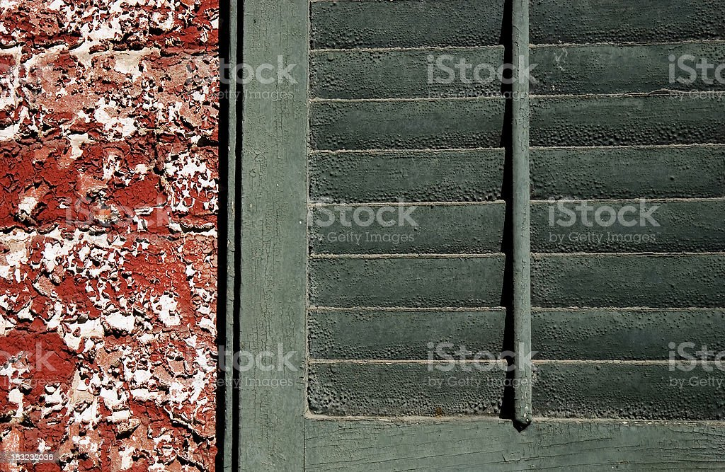 Shuttered Decay royalty-free stock photo