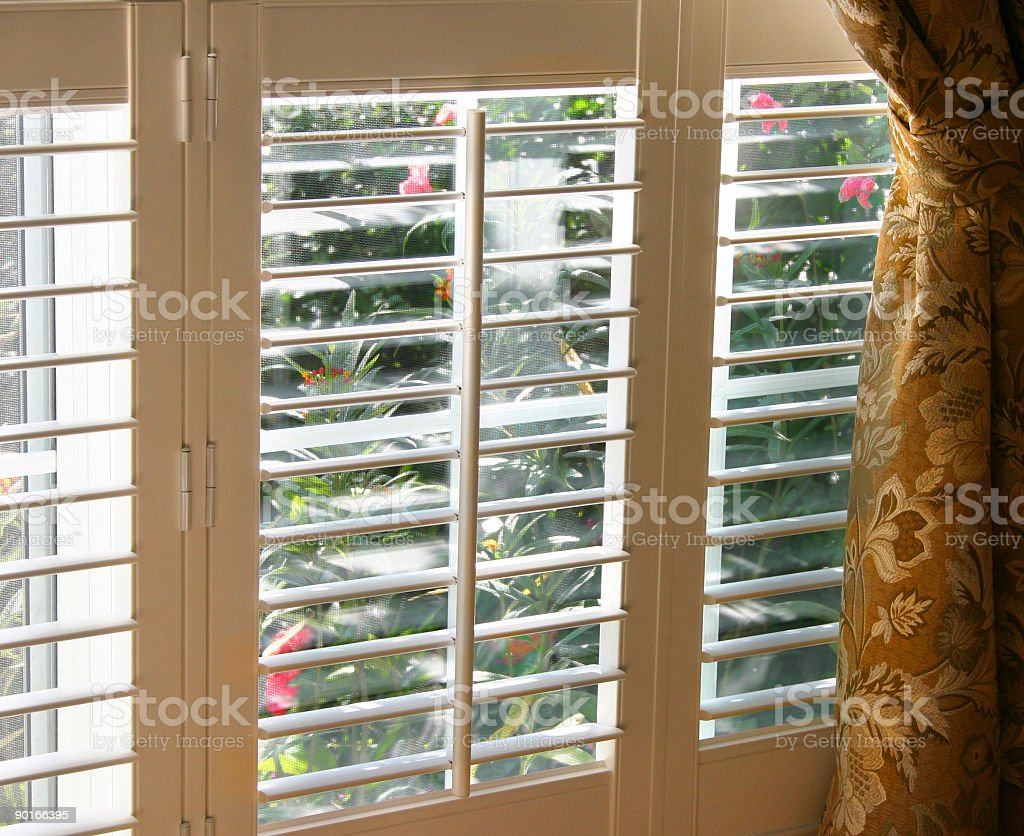 Shuttered Window stock photo