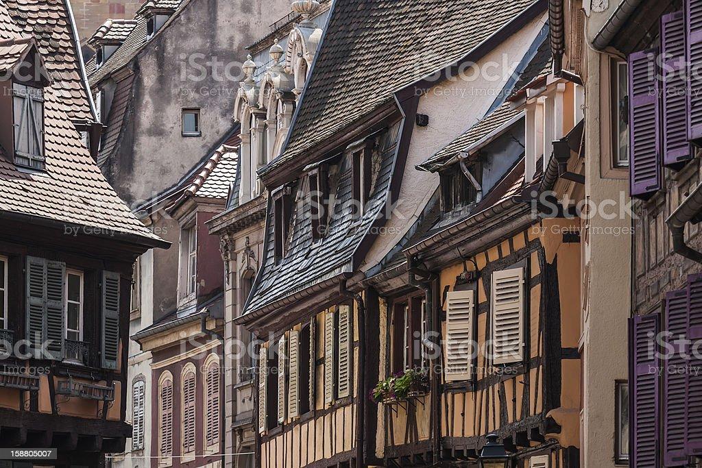 Shuttered windows - Colmar, France royalty-free stock photo