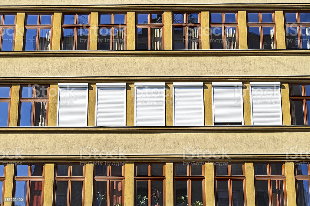 shutters and windows royalty-free stock photo
