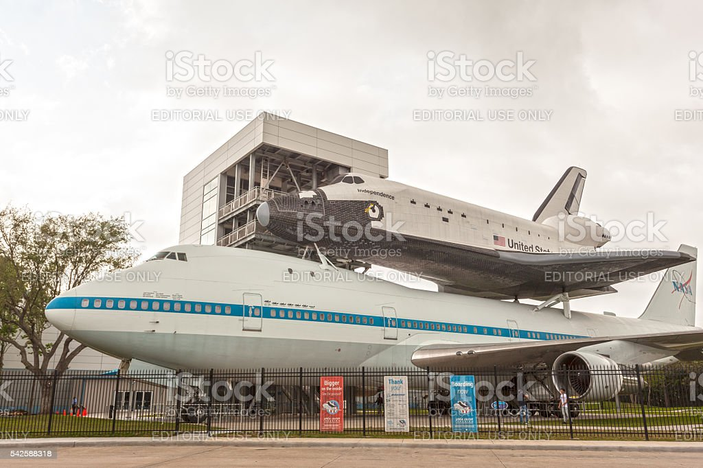 Shuttle at the NASA Center in Houston stock photo