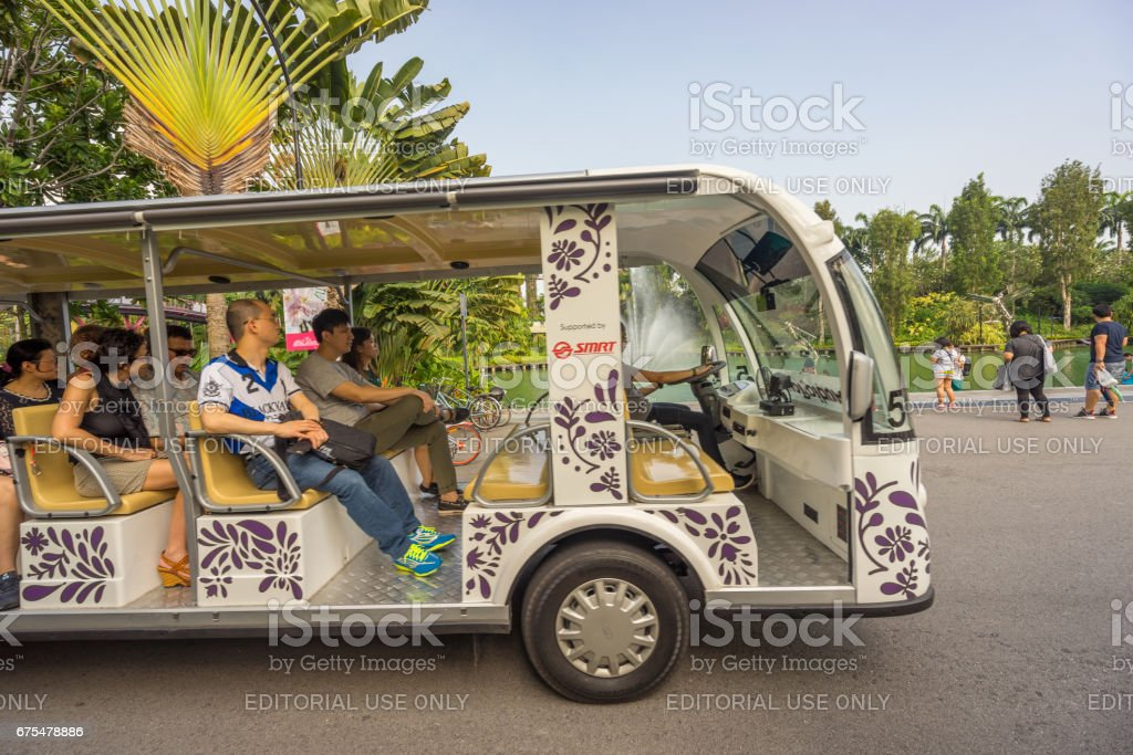 Garden By The Bay Bus shuttle in the bay pictures, images and stock photos - istock