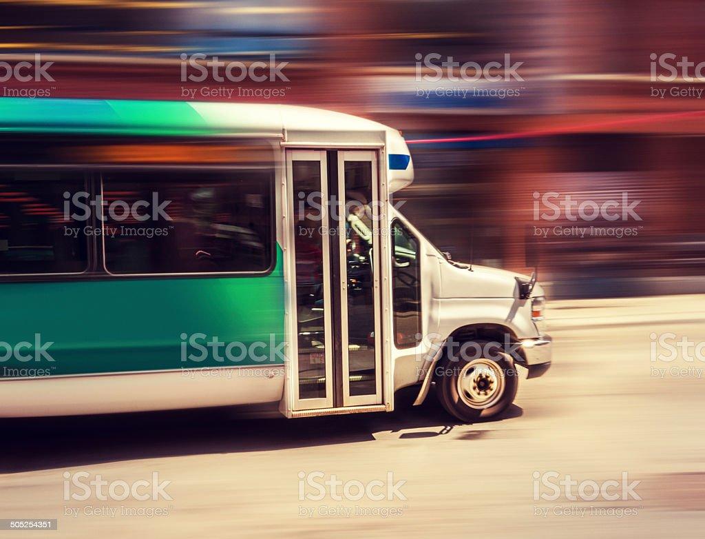 shuttle bus passenger stock photo