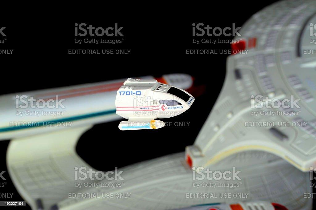 Shuttle in Flight stock photo