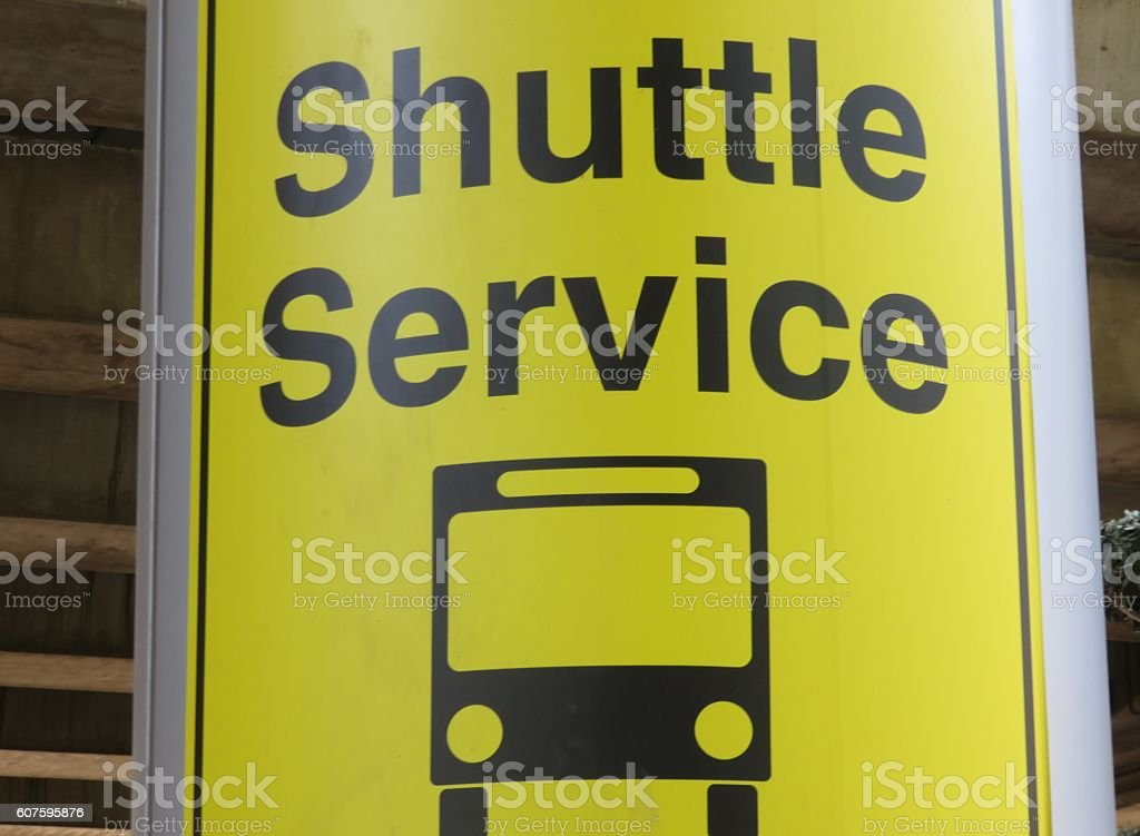 Shuttle service stock photo