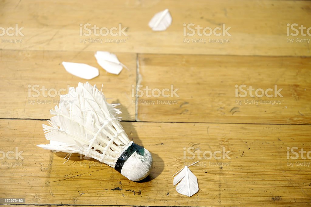 Shuttlecock On The Floor stock photo