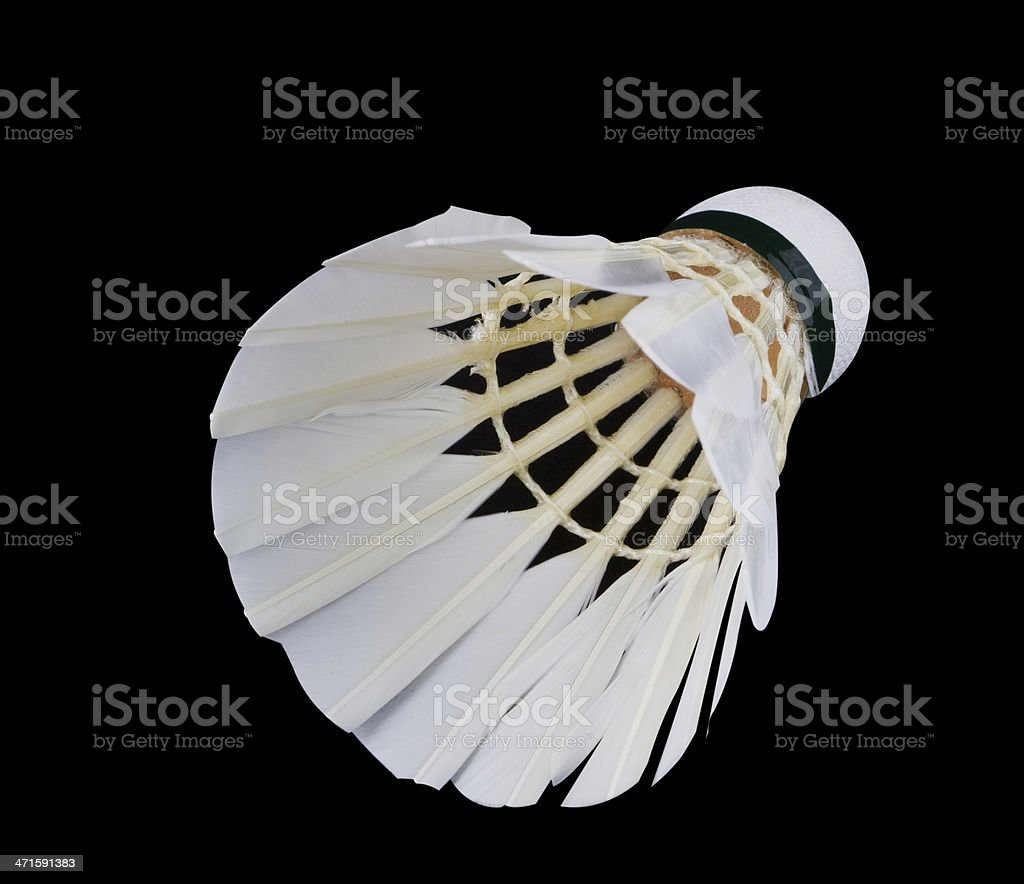 Shuttlecock royalty-free stock photo