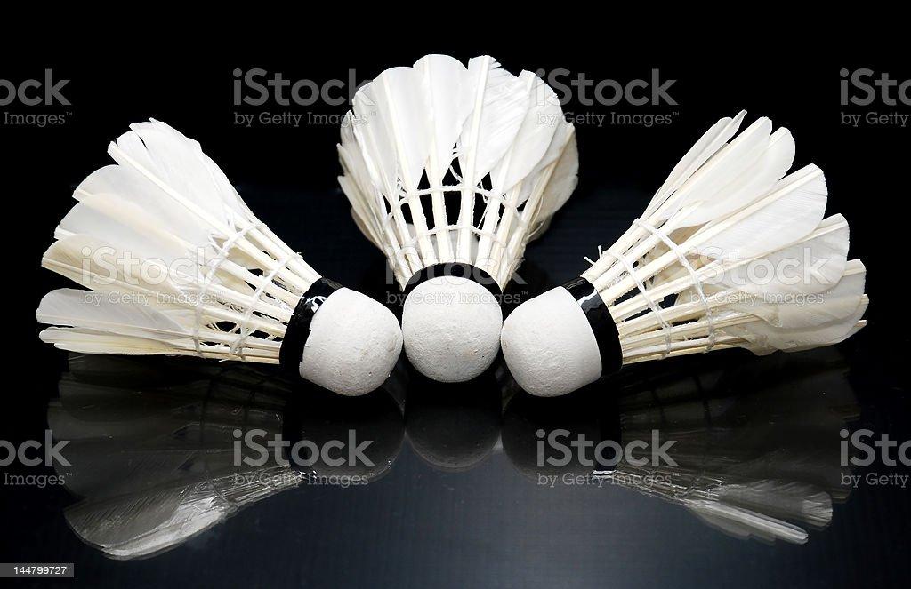 shuttlecocks royalty-free stock photo