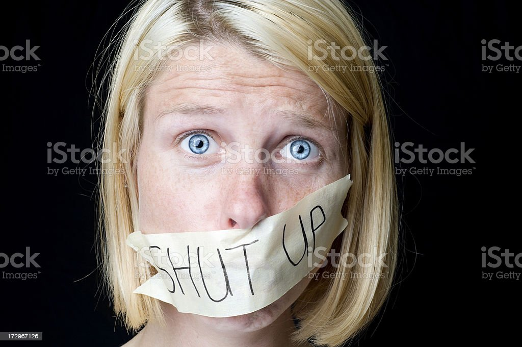 Shut-Up royalty-free stock photo