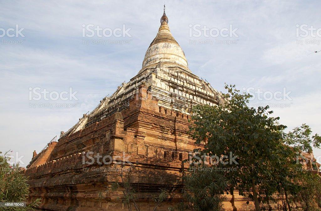 Shwe Sandaw pagoda, Bagan, Myanamar stock photo