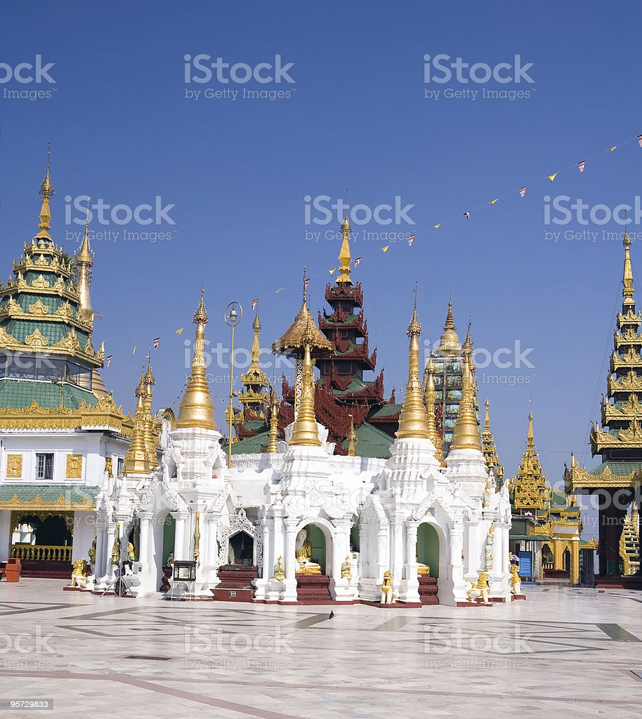Shwedagon complex royalty-free stock photo
