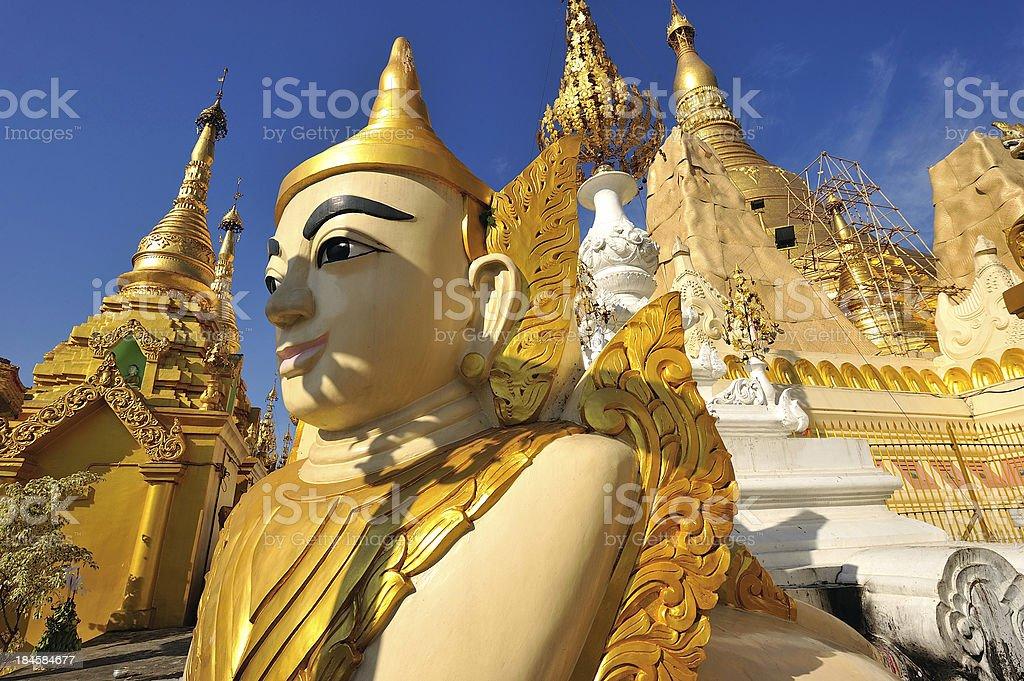 Shwedagon golden pagoda, Yangon,Myanmar royalty-free stock photo