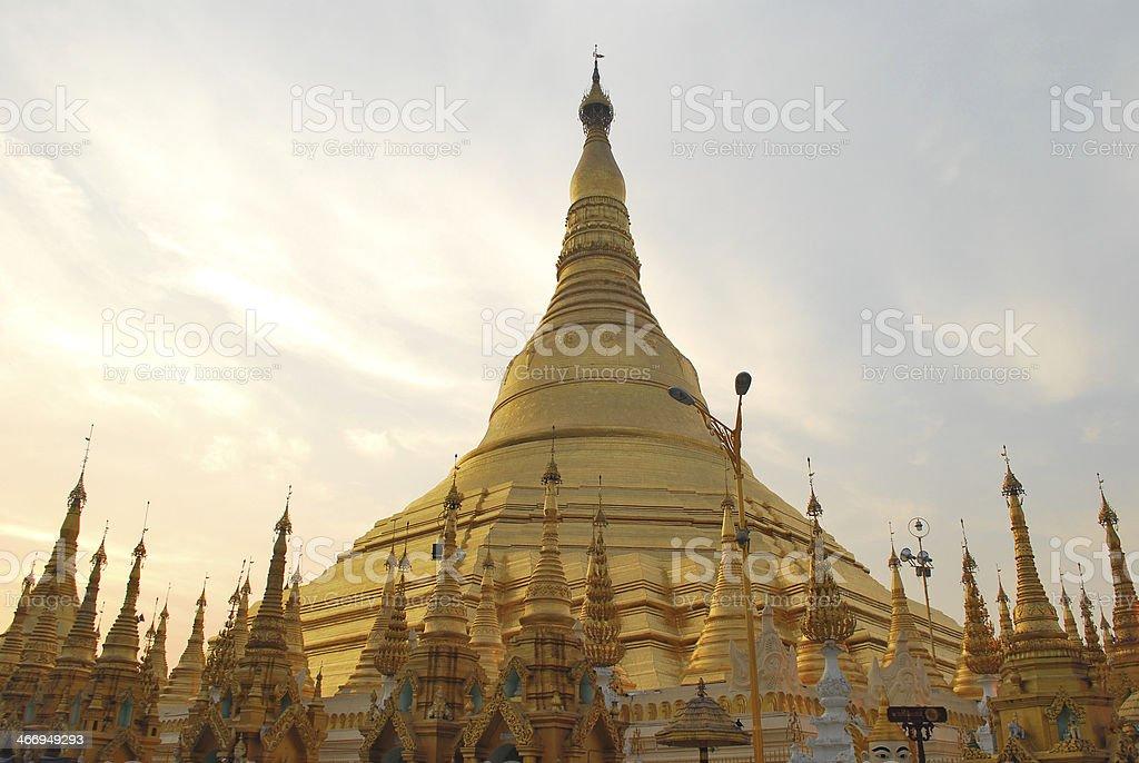Shwedagon Pagoda in Myanmar royalty-free stock photo