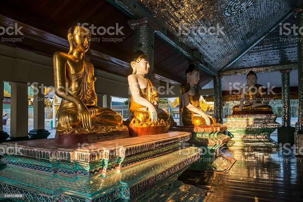 Shwedagon pagoda in Yagon, Myanmar stock photo
