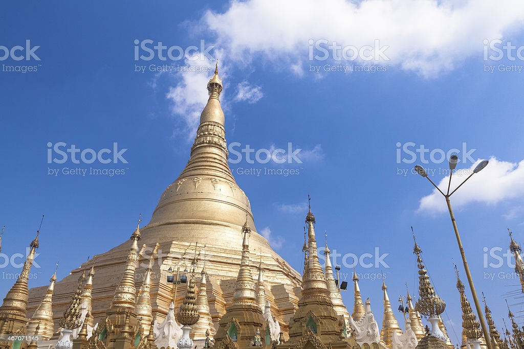 Shwedagon pagoda in Yangon, Burma (Myanmar) royalty-free stock photo