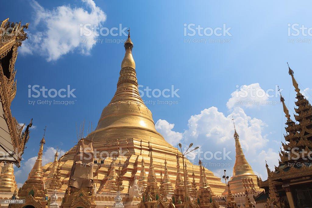Shwedagon pagoda in Yangon, Burma (Myanmar) royalty-free stock photo