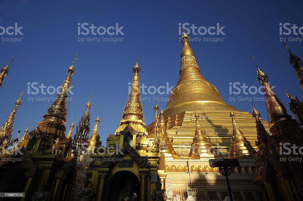 Shwedagon Pagoda in Yangon City, Burma royalty-free stock photo