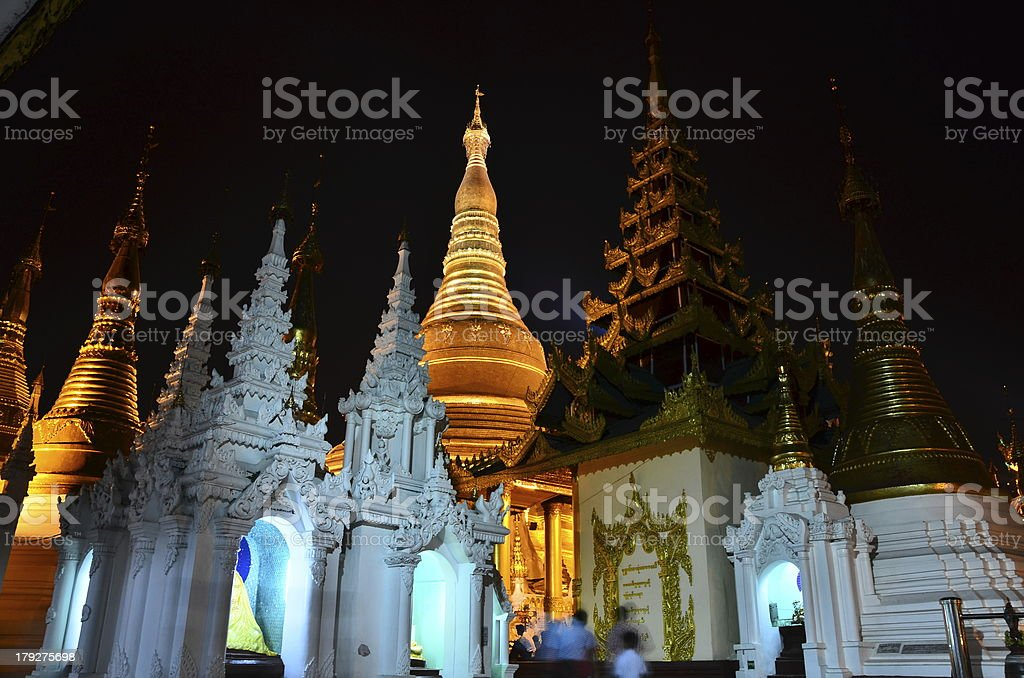 Shwedagon Pagoda in Yangon - Myanmar royalty-free stock photo