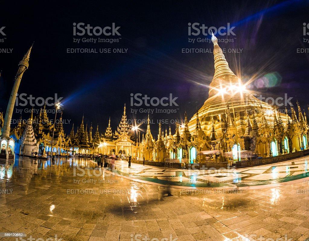 Shwedagon Pagoda in Yangon, Myanmar stock photo