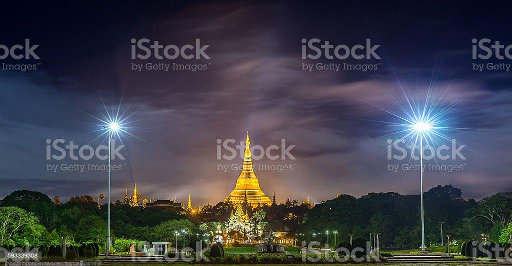 Shwedagon Pagoda in Yangon Myanmar stock photo