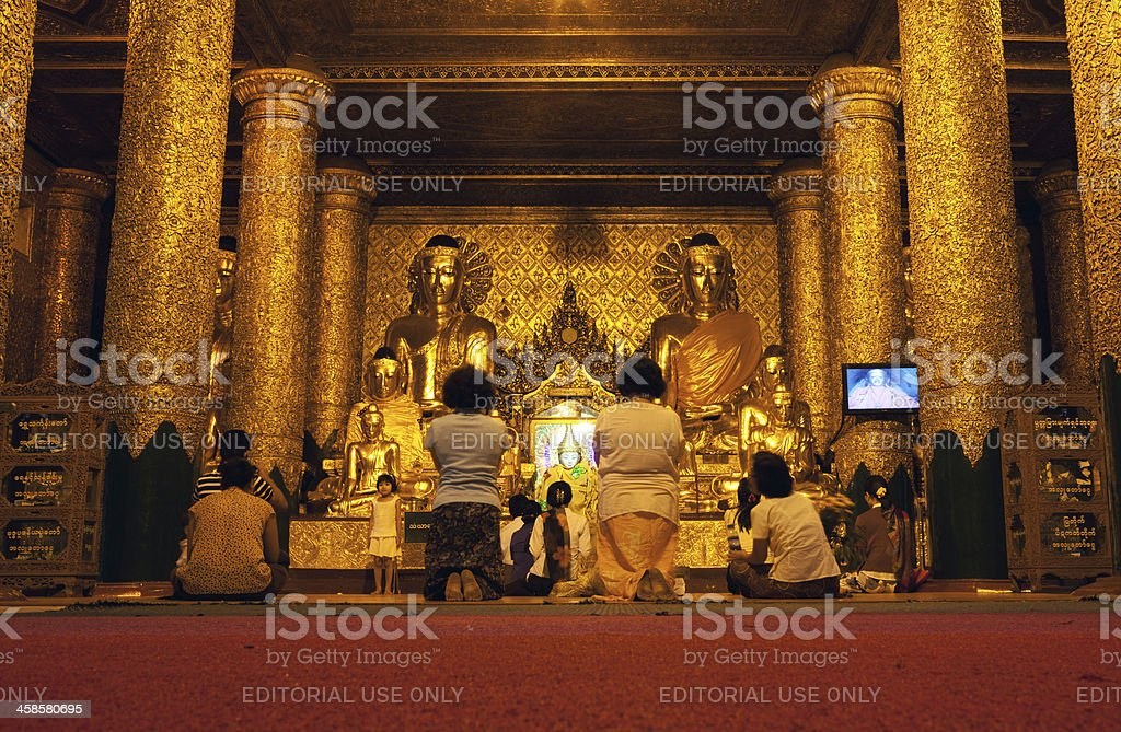 Shwedagon Pagoda, Myanmar royalty-free stock photo