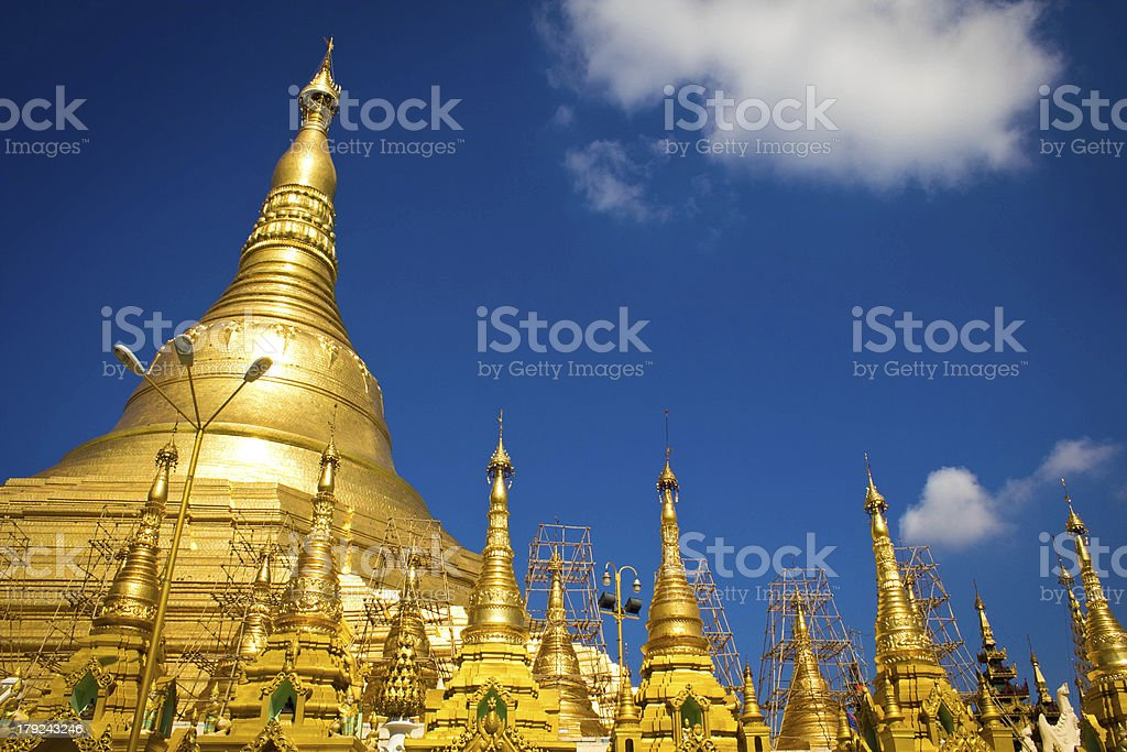 shwedagon Pagoda royalty-free stock photo