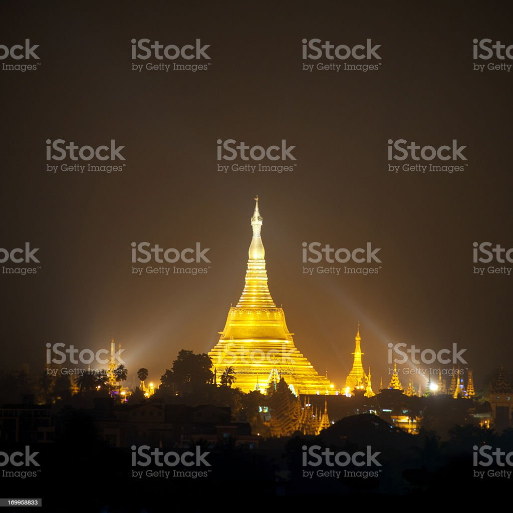 Shwedagon Pagoda, Yangon, Myanmar royalty-free stock photo