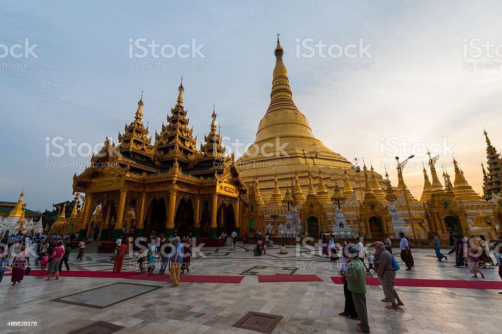 Shwedagon Pagoda. Yangon, Myanmar stock photo