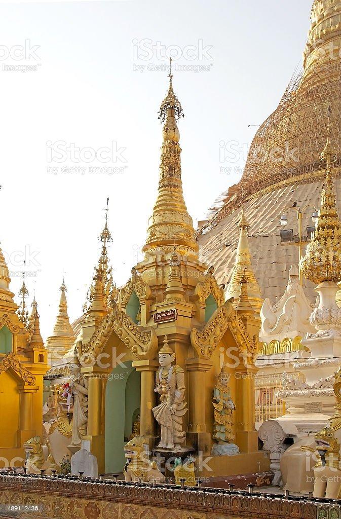 Shwedagon Pagoda, Yangon, Myanmar stock photo