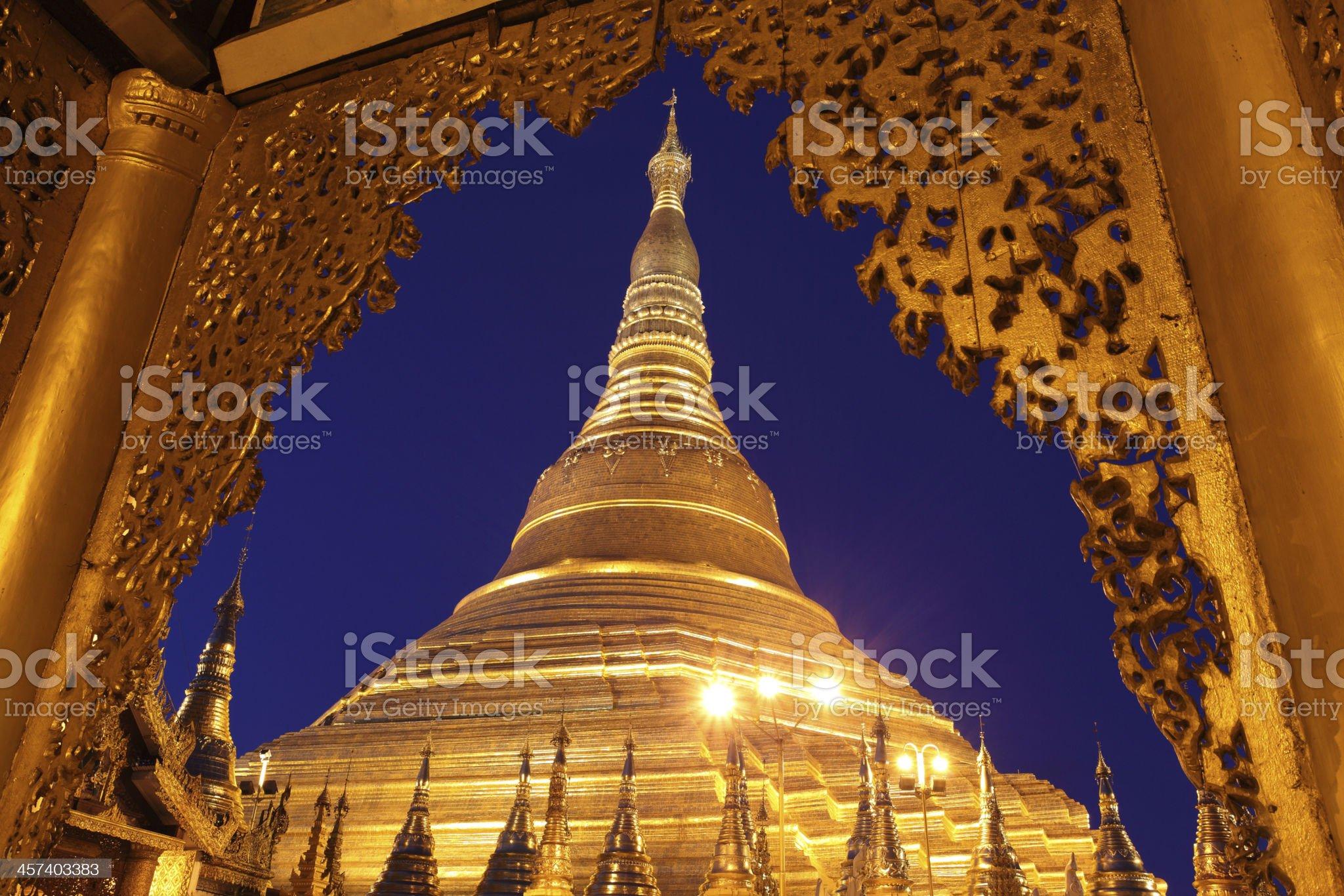 Shwedagon Pagoda,Yangon, Myanmar. royalty-free stock photo
