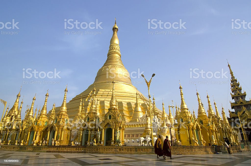 Shwedagon Paya in Yangon, Burma stock photo