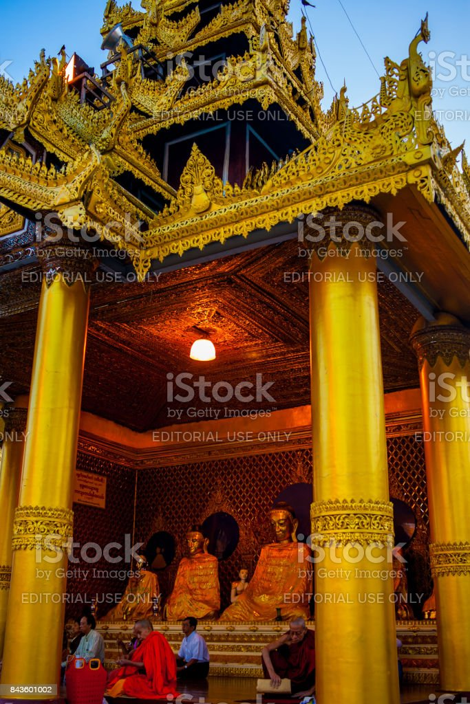 Shwedagon Paya pagoda. Yangon, Myanmar stock photo