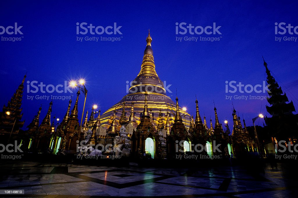 Shwedagon Paya, Rangoon, Myanmar royalty-free stock photo