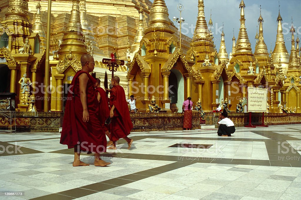 Shwedagon Paya - Yangon, Myanmar royalty-free stock photo