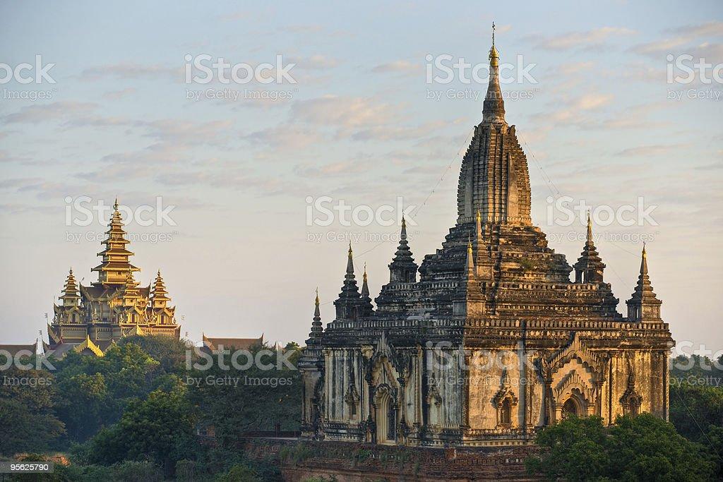 Shwegugy Paya after sunrise, Bagan, Myanmar. stock photo