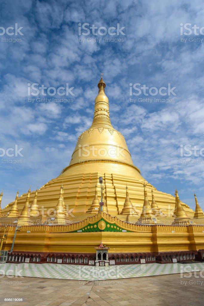 Shwemawdaw Pagoda or Mutao Pagoda in Bago, Myanmar stock photo