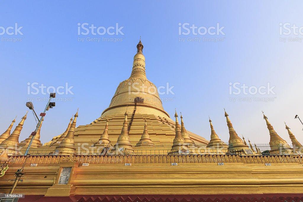 Shwemawdaw Paya at Bago ,Myanmar stock photo