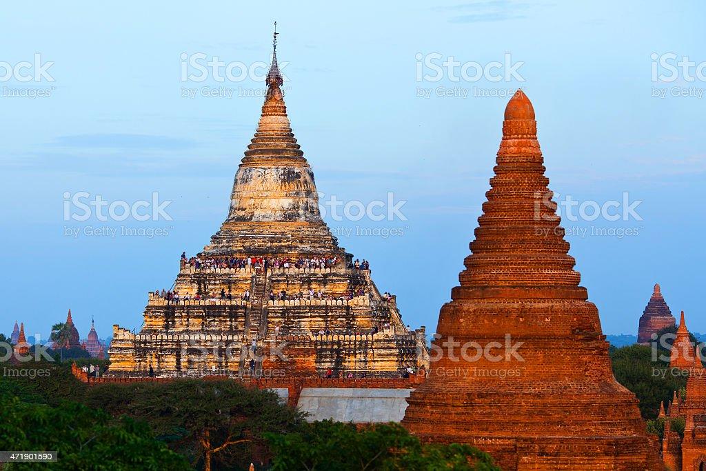 Shwesandaw Pagoda in Bagan, Myanmar stock photo