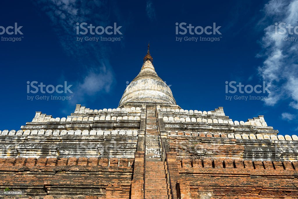 Shwesandaw pagoda landmark of Bagan city, Mandalay, Myanmar stock photo