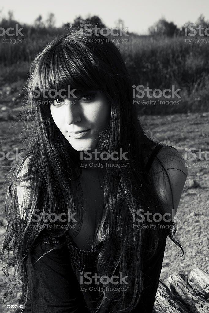 shy beauty stock photo