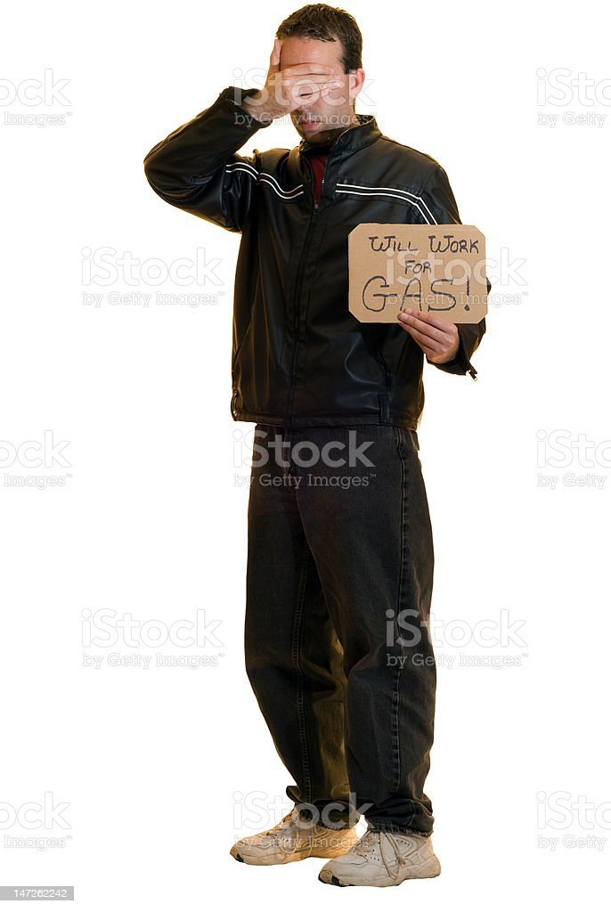 Shy Beggar royalty-free stock photo