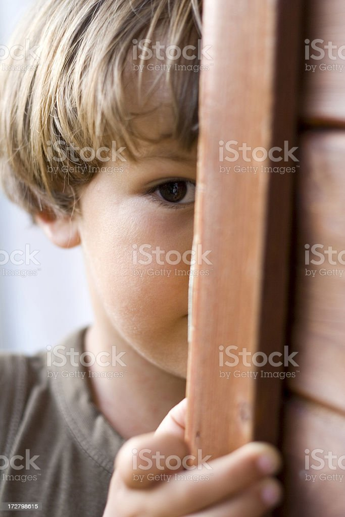 Shy Child stock photo