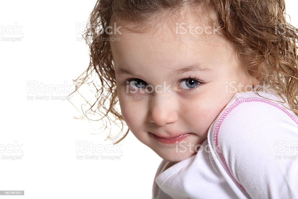 Shy Child royalty-free stock photo